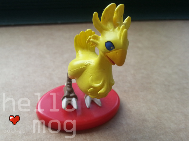 Final Fantasy Chocobo 05 Coca Cola Figure