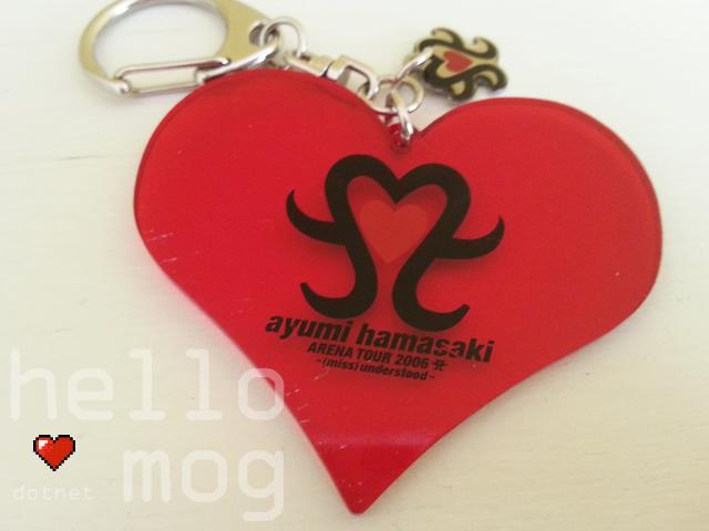 Ayumi Hamasaki Arena Tour 2006 (miss)undertstood Heart Keychain