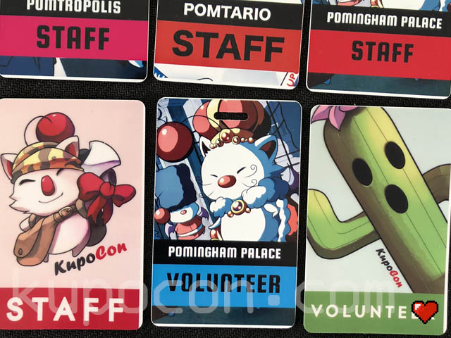 KupoCon Generation 1 & 2 Staff & Volunteer Badges