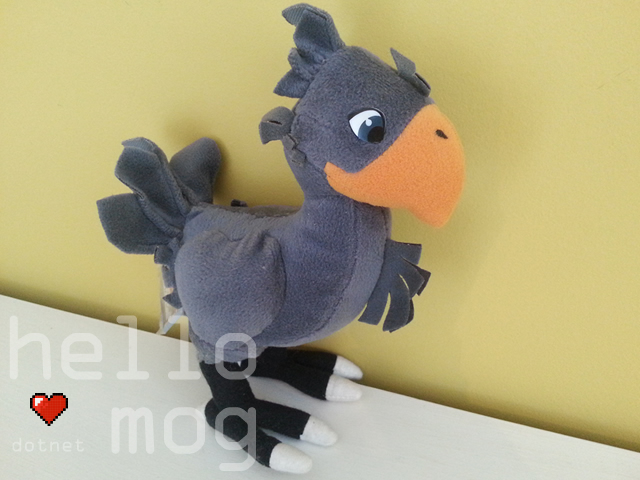Final Fantasy VII Black Chocobo Plush