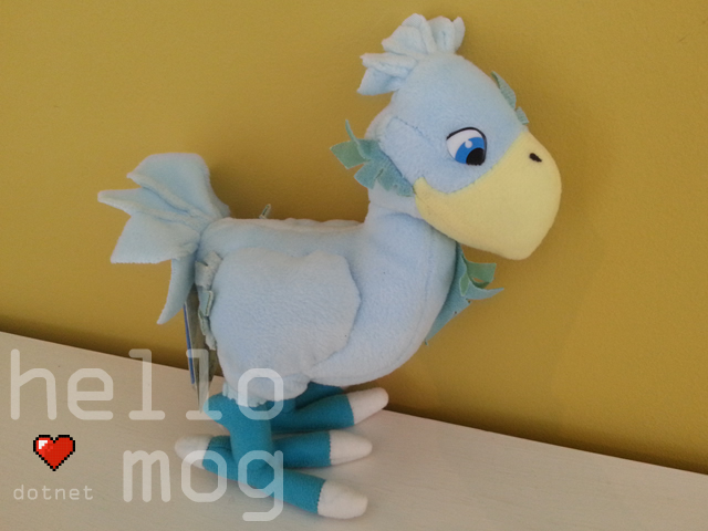 Final Fantasy VII Blue Chocobo Plush