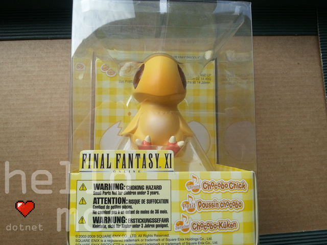 Final Fantasy XI Chirping Chocobo Chick Toy