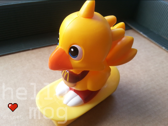 Final Fantasy Chocobo McDonald's Skateboard Pull Back Toy