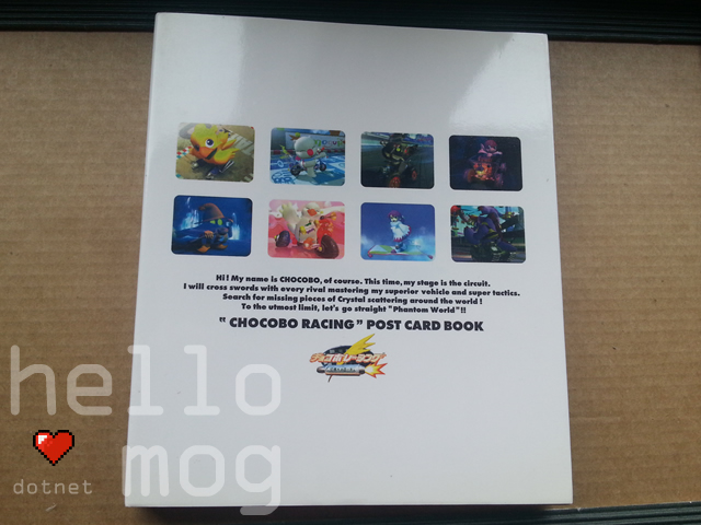 Chocobo Racing Post Card Book