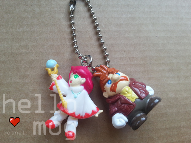 Chocobo's Dungeon 2 Shiroma & Cid Keychain