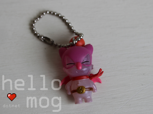 Chocobo Tales Clear Mog Dueler X Charm Keychain