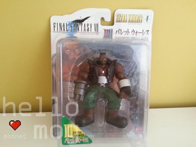 Final Fantasy VII Japanese Barett Wallace Extra Knights Figure