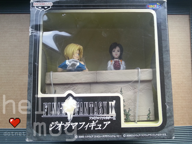 Final Fantasy IX UFO Diorama Zidane and Garnet Figure