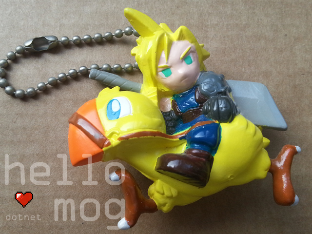 Final Fantasy VII Cloud & Chocobo Super Deformed keychain