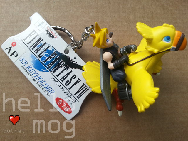 Final Fantasy VII Cloud & Chocobo Keyholder