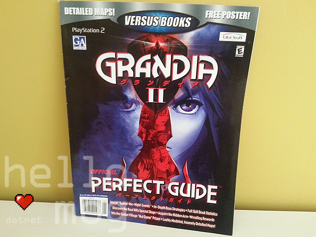 Grandia II Official Perfect Guide Book PS2