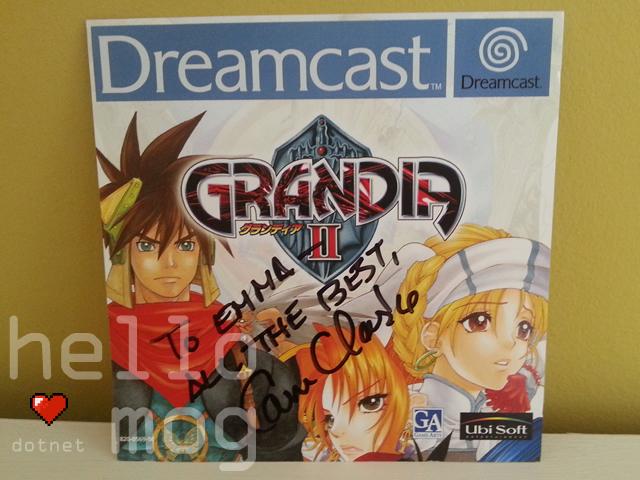 Grandia II PAL Game Signed Cam Clarke