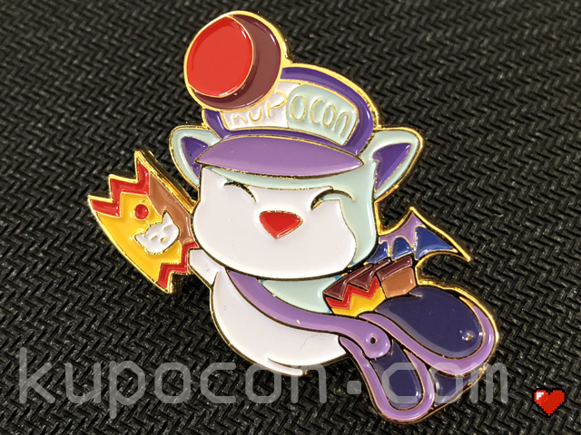 KupoCon Moogle Mascot Pin Badge