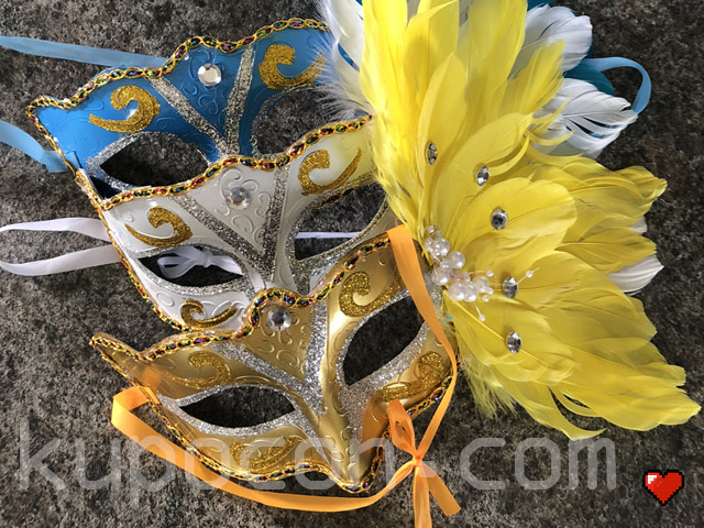 KupoCon Exotic Feathered Mask Masquerade Ball Prop