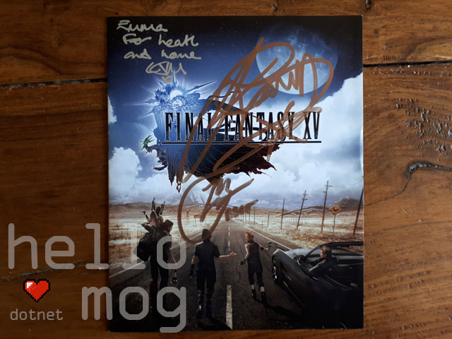 KupoCon Mind The Pom Signed Final Fantasy XV Game Insert