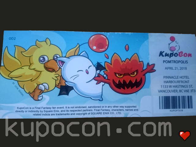 KupoCon Commemorative Ticket Pomtropolis