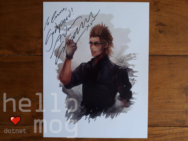 KupoCon Pomingham Palace Signed Final Fantasy XV Adam Croasdell Ignis Print
