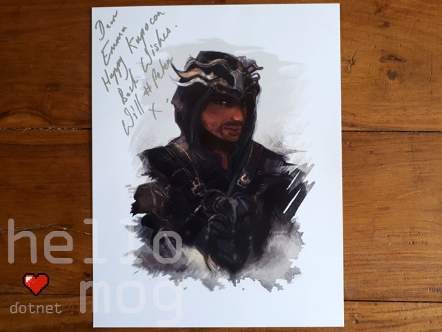 KupoCon Pomingham Palace Signed Kingsglaive Final Fantasy XV Will Bowden Pelna Print