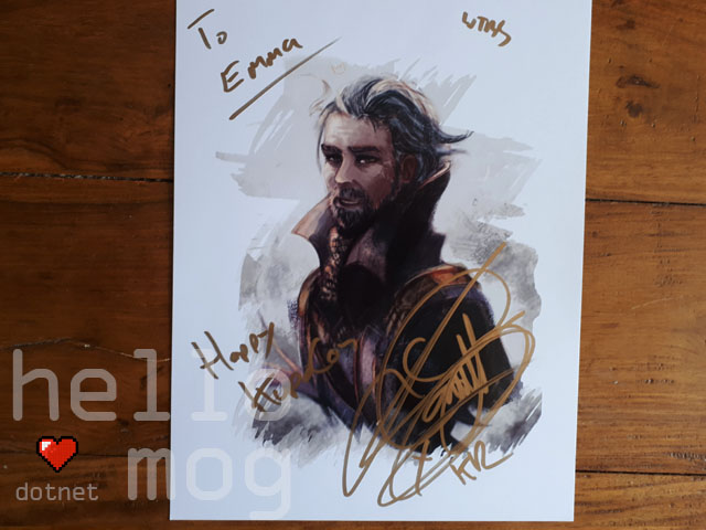 KupoCon Pomingham Palace Signed Final Fantasy XV Jon Campling King Regis Print