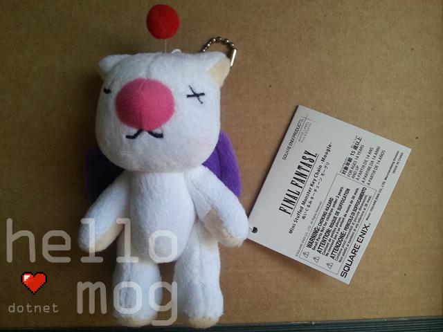 Final Fantasy Mini Stuffed Monster Key Chain Moogle