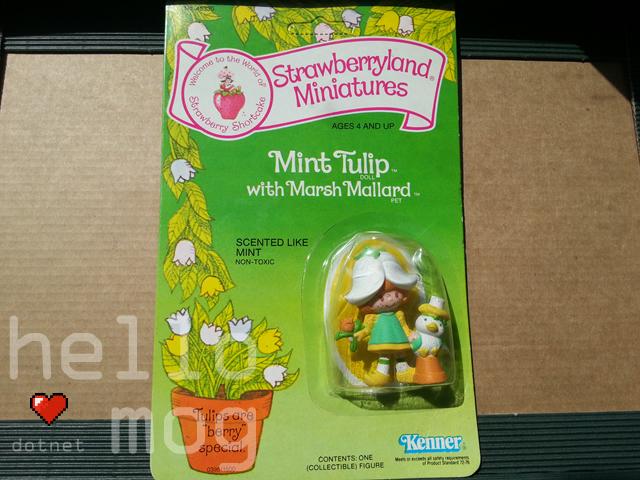 Strawberry Shortcake Strawberryland Miniatures Mint Tulip with Marsh Mallard