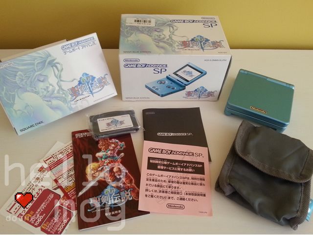Game Boy Advance SP Mana Blue Edition