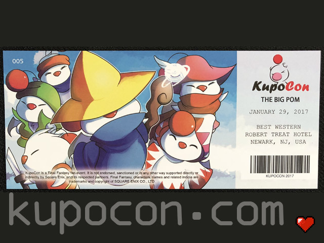 KupoCon Commemorative Ticket The Big Pom