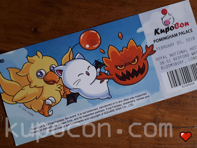 KupoCon Commemorative Ticket Pomingham Palace