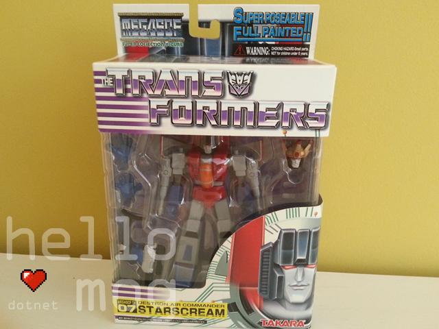 Transformers Starscream Takara Mega SCF Super Collection Figure
