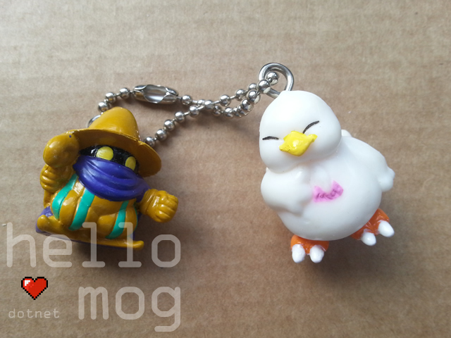 Chocobo's Dungeon 2 Black Mage & Chubby Chocobo Keychain