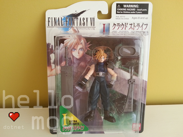 Final Fantasy VII American Cloud Strife Extra Knights Figure
