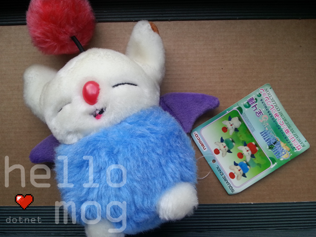 Final Fantasy Crystal Chronicles Blue Moogle Plush