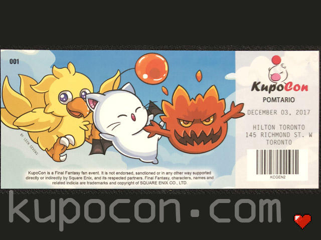 KupoCon Commemorative Ticket Pomtario